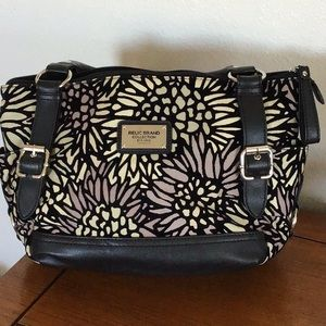 Relic daisy print canvas purse/ handbag.
